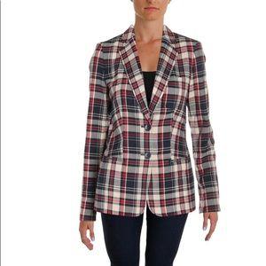 Tommy Hilfiger women's plaid blazer nwot size 12